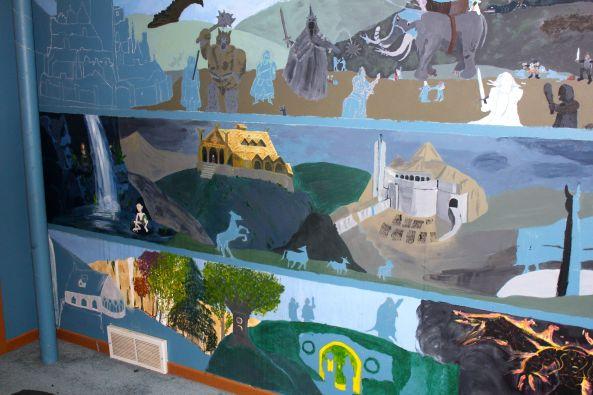 LOTR mural, left side